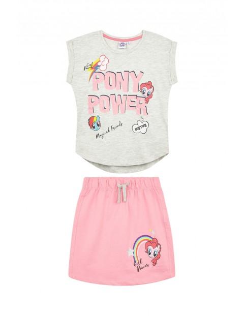 Komplet dziewczęcy Pony- różowa spódniczka i t-shirt