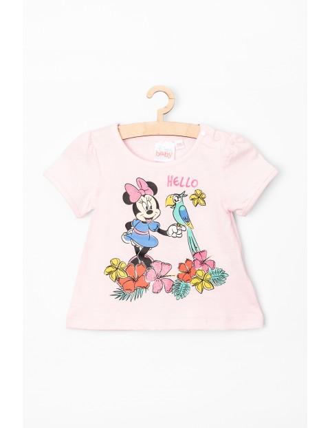T-Shirt niemowlęcy Myszka Minnie różowy