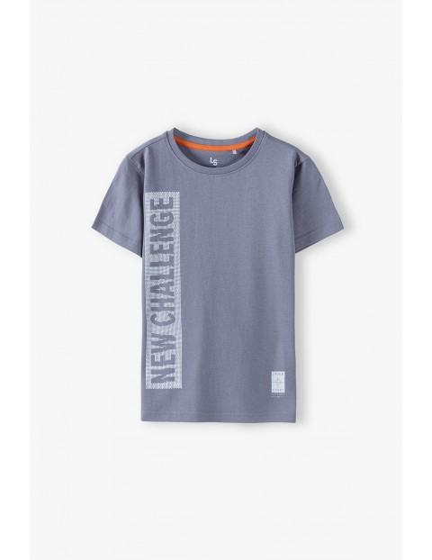 Bawełniany t-shirt chłopięcy z napisem- New Challenge