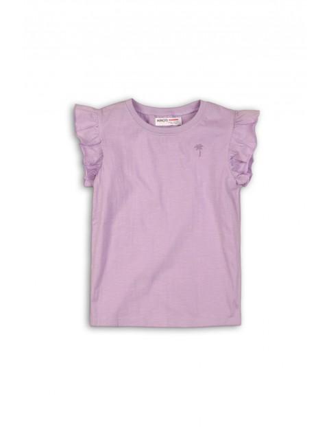 Fioletowa koszulka niemowlęca- 100% bawełna