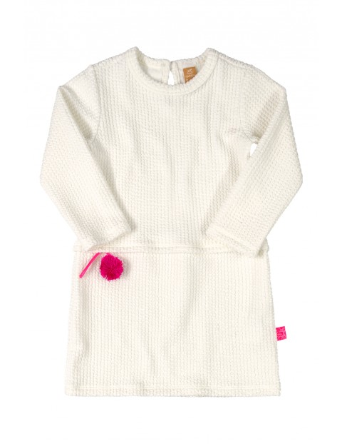 Sukienka dziecięca biała z długim rękawem