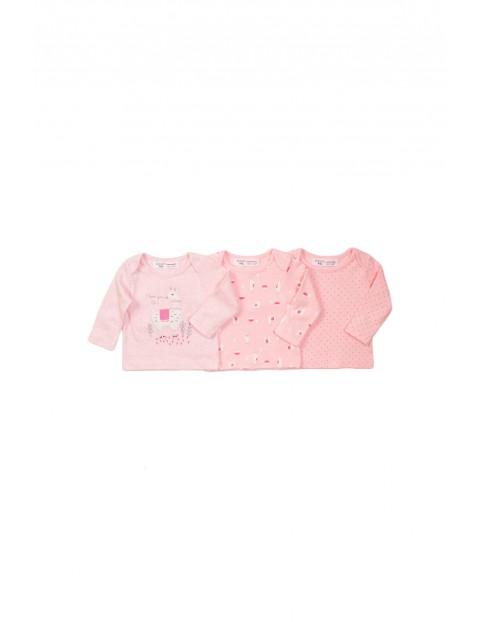 Bluzki dla niemowlaka - różowe z długim rękawem
