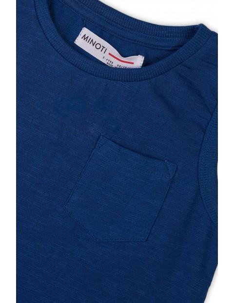 Bawełniana koszulka chłopięca granatowa