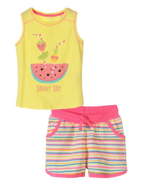 Komplet ubrań dla dziewczynki - tshirt + spodenki