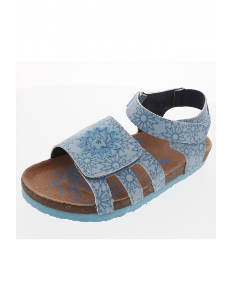 Sandały dziewczęce Frozen - niebieskie