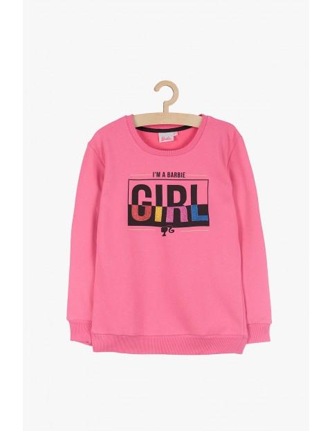 Różowa bluza dresowa dla dziewczynki Barbie
