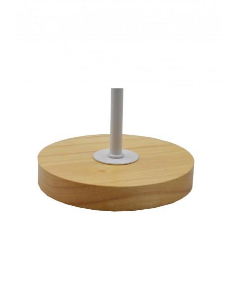 Lampa stołowa z metalowym kloszem - biała