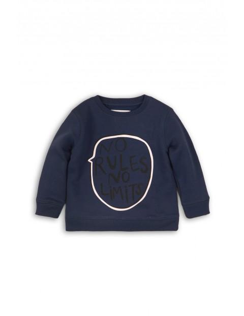 Bluza dresowa niemowlęca - granatowa