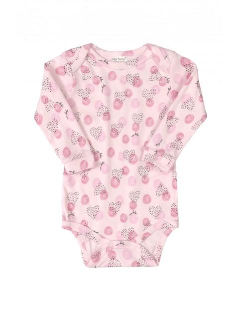 Body niemowlęce we wzorki - różowe