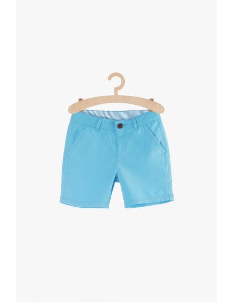 Szorty chłopięce tkaninowe- niebieskie