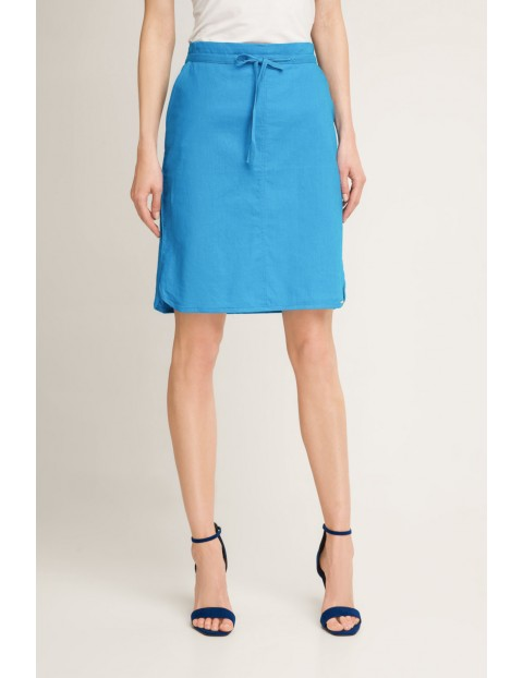 Wiązana krótka spódnica niebieska