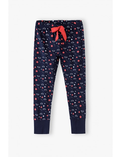 Spodnie dzianinowe - piżamowe