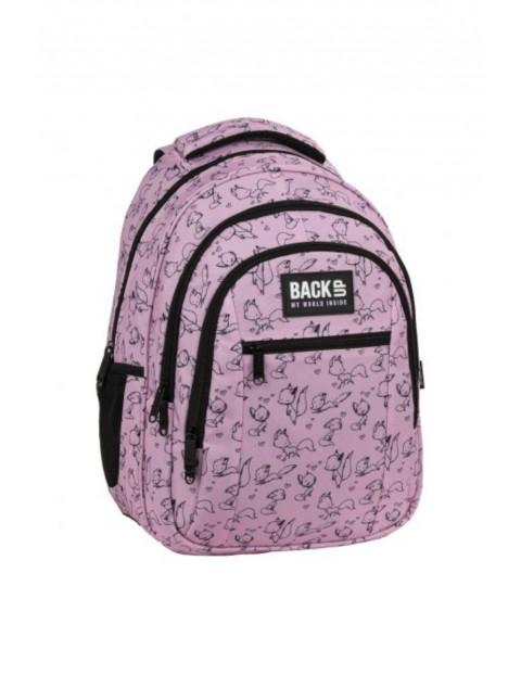 Plecak dziewczęcy- różowy Love