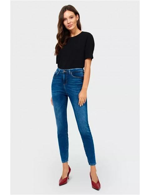 Spodnie damskie jeansowe Slim - niebieskie