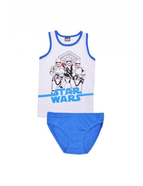 Bawełniany komplet bielizny chłopięcej Star Wars - niebieski