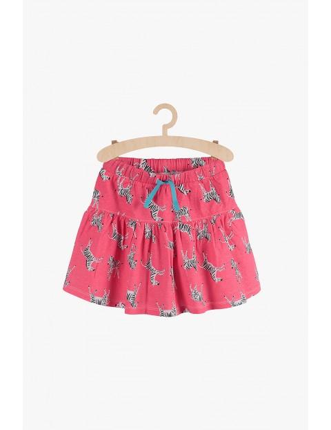 Spódnica dziewczęca różowa- Zebry