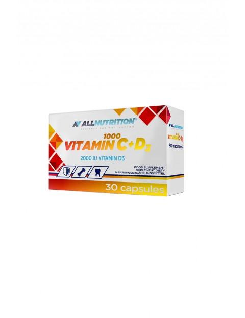 Suplementy diety - Allnutrition Vitamin C 1000+D3 - 30 kapsułek