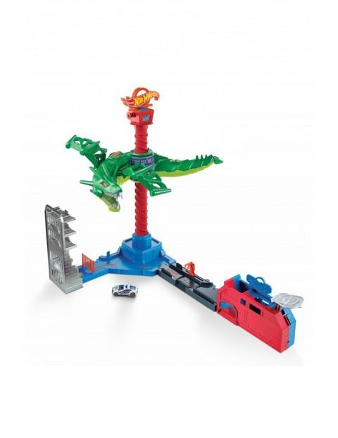 Hot Wheels City vs Robo Beasts - Atak smoka - Zestaw z napędem, dźwiękami i pojazdem wiek 5+