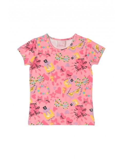 Koszulka sportowa we wzorki - różowa