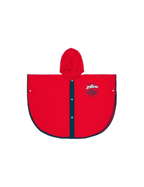 Poncho przeciwdeszczowe Spiderman - czerwony