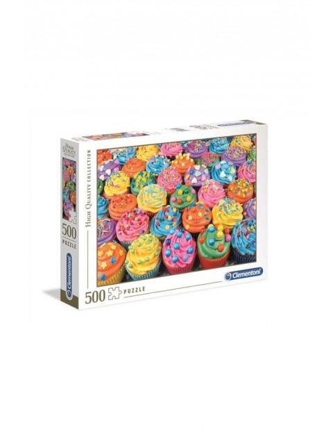 Puzzle Clementoni Kolorowe babeczki  - 500 elementów
