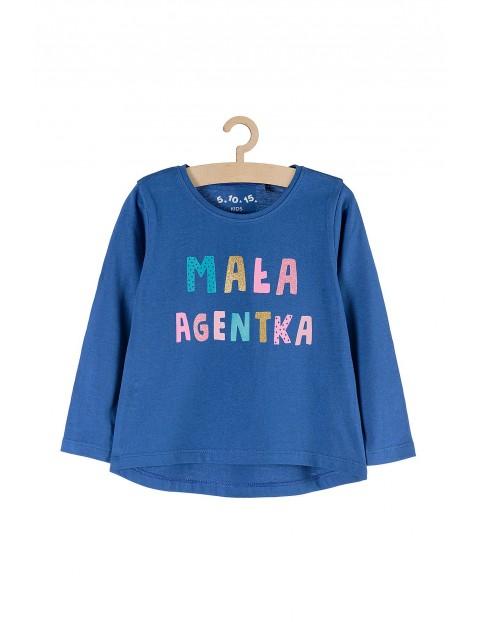 Bluzka dla dziewczynki z napisem Mała agentka