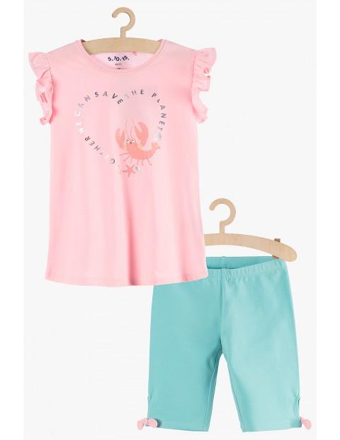 Komplet dziewczęcy na lato- t-shirt i spodenki