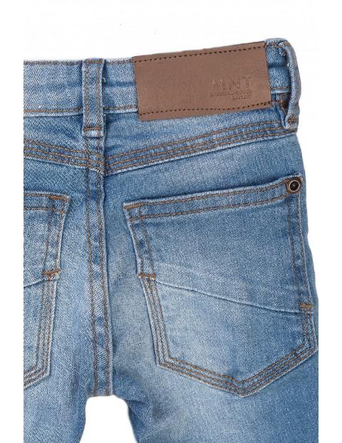 Spodnie chłopięce skinny jeansowe- niebieskie