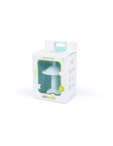 Silikonowy gryzak grzybek GiliGums -zielony wiek 3msc+