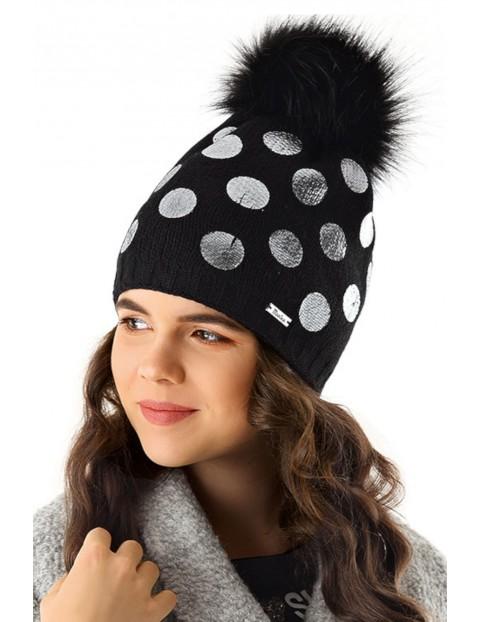 Czapka zimowa dla dziewczynki 4X35AU