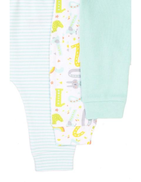 Bawełniane półśpiochy niemowlęce- 2-pak