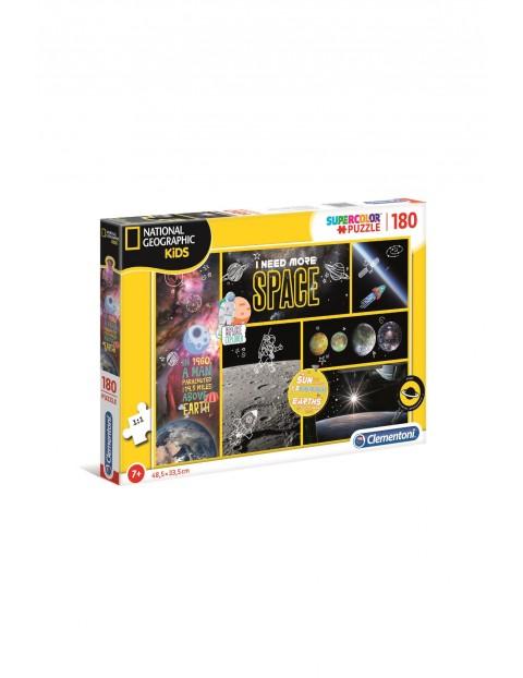 Puzzle National Geographic Kids Space Potrzebuję więcej przestrzeni -  180el wiek 7+