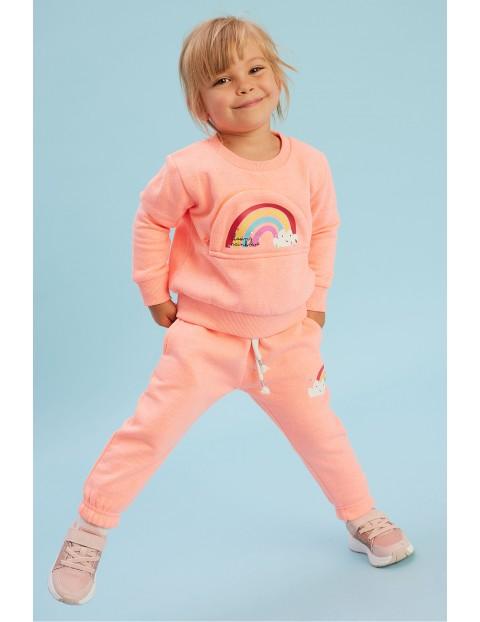 Bluza dziewczęca różowa z kieszenią