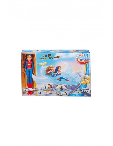 Lalka Wonder Woman z odrzutowcem