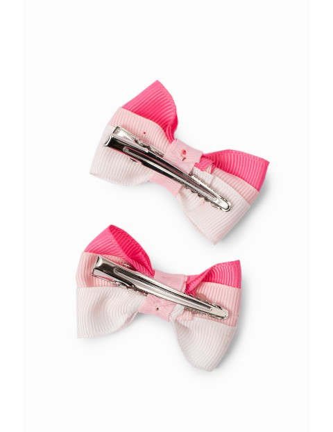 Spinki do włosów- różowe kokardki