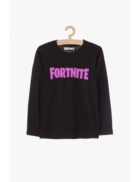 Bluzka chłopięca z długim rękawem Fortnite- czarna
