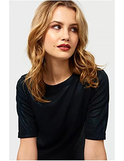 Bluzka damska z krótkim rękawem - czarna