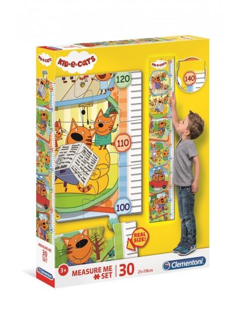 Puzzle Dziecko i Koty Clementoni- miarka wzrostu - 30 el