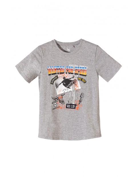 T-shirt chłopięcy w kolorze szarego melanżu