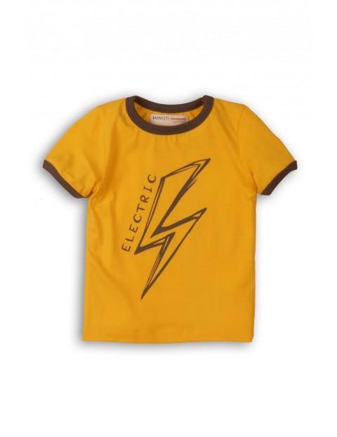 T-Shirt niemowlęcy żółty z błyskawicą