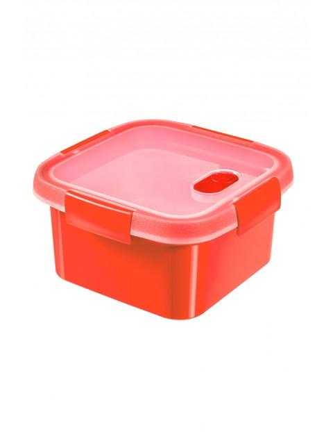 Pojemnik na żywność kwadratowy STEAMER Curver 16x16x9cm - czerwony