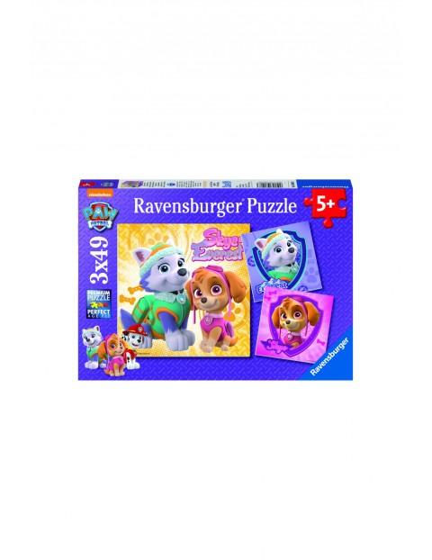 Puzzle Psi Patrol Skye&Everest - 3x49 elementów