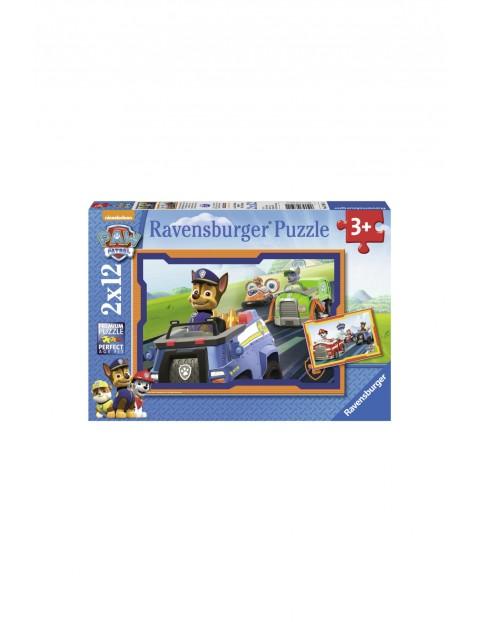 Puzzle Psi Patrol w akcji 2x12 elementów
