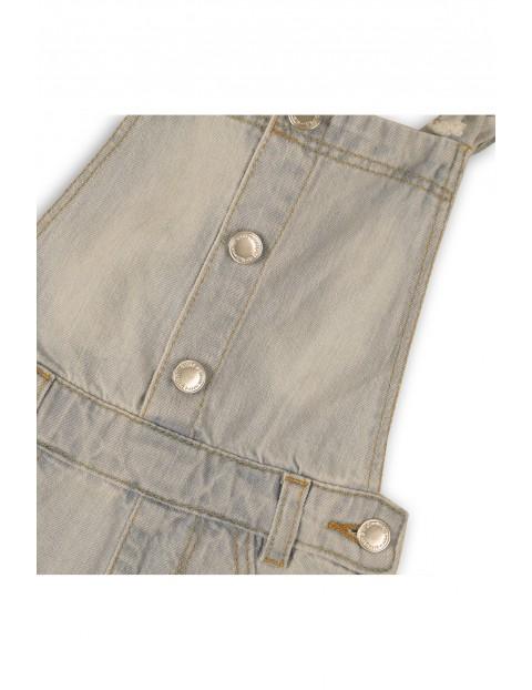 Krótkie ogrodniczki dziewczęce jeansowe