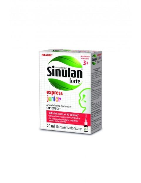 Sinulan express forte junior- aerozol udrażniający nos - 20 ml wiek 3+