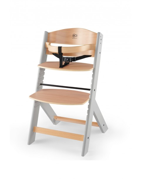 Krzesełko do karmienia ENOCK drewniane szare nogi Kinderkraft