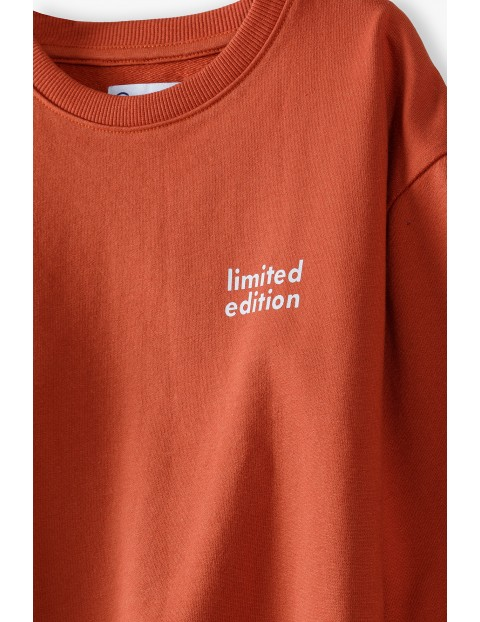 Czerwona bluza dresowa dziewczęca - Limited Edition