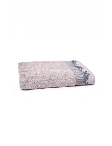 Bawełniany ręcznik w kolorze szarym 70x140 cm