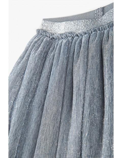 Spódnica dziecięca tiulowa- szara ze srebrną nitką