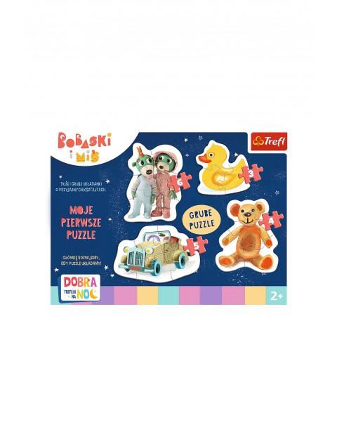 Puzzle Baby- Urocze Bobaski - Dobranoc, Trefliki na noc wiek 2+